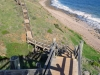 It was beautiful walking along the beach, and then up on the stairs along the cliff tops