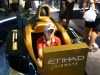Taking a spin in an F1 simulator
