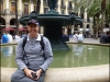 Paul by the fountain in Plaça Reial