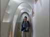 Paul in the hallway of Casa Batlló. Gaudi used a lot of Caternary arches in his buildings.