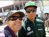 With Kamui Kobayashi (Caterham F1 driver)