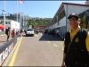 Very nice security man in pit lane. He went to get out of my way, but I asked him to stay because he was so nice to me