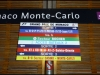 Our first touch of Monte Carlo, the sign directing us to the correct end of the platform! How excitement!
