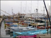 My favourite part of the harbour, the rows of colourful timber boats