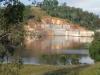 The dam wall at Lake Manchester
