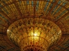 and the beautiful stained glass ceiling