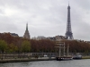 The iconic Tour Eiffel from across the Seine
