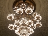 The chandelier in the main auditorium