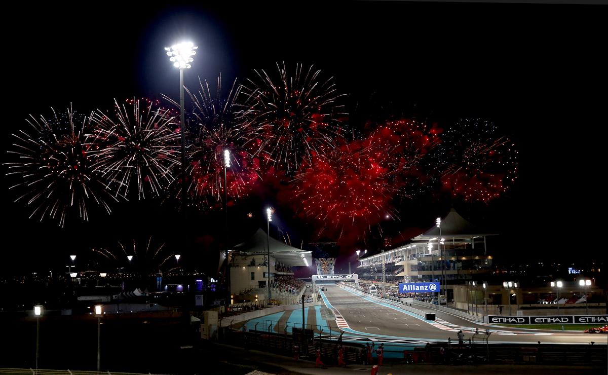 Post race celebrations