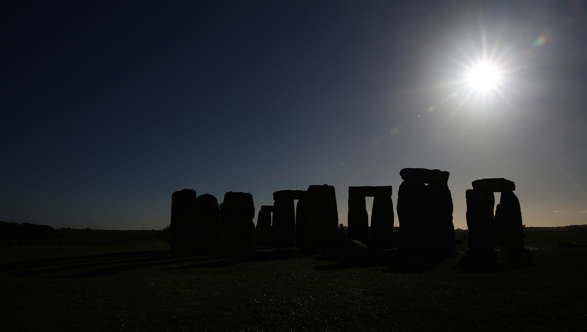 A beautiful Autumn day at Stonehenge