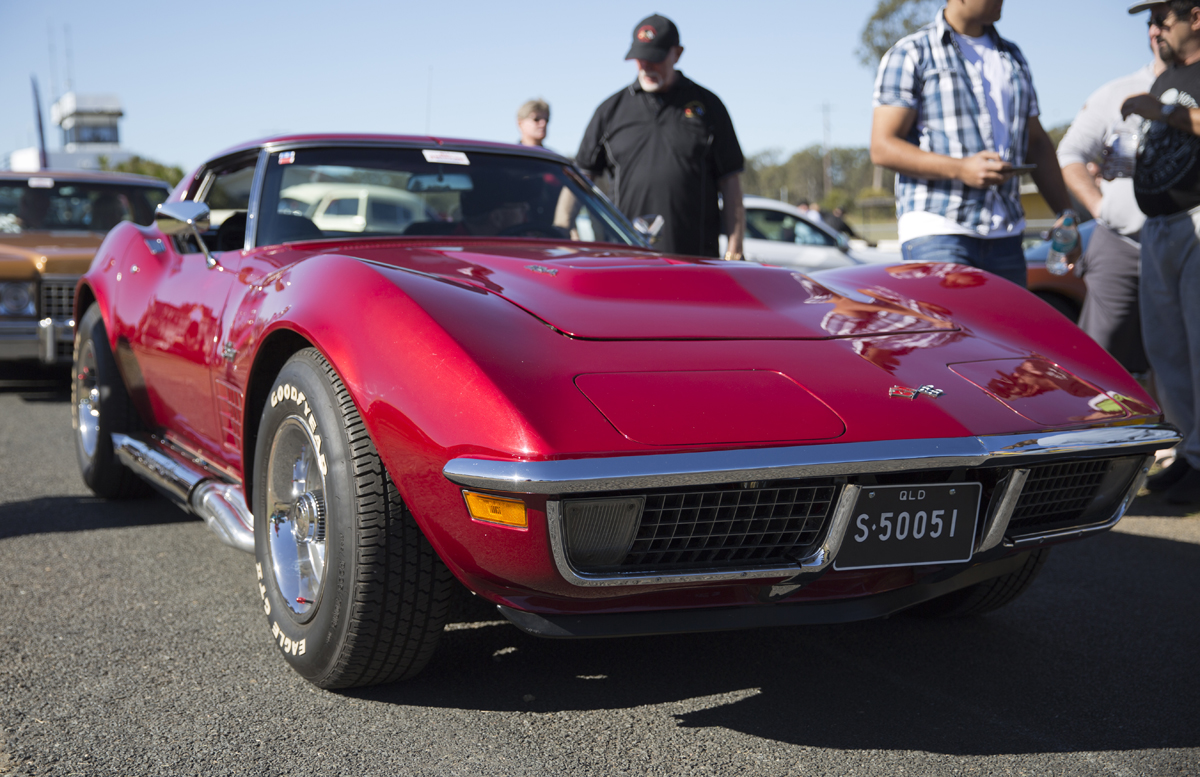 A big block Corvette with side-pipes - LOUD...
