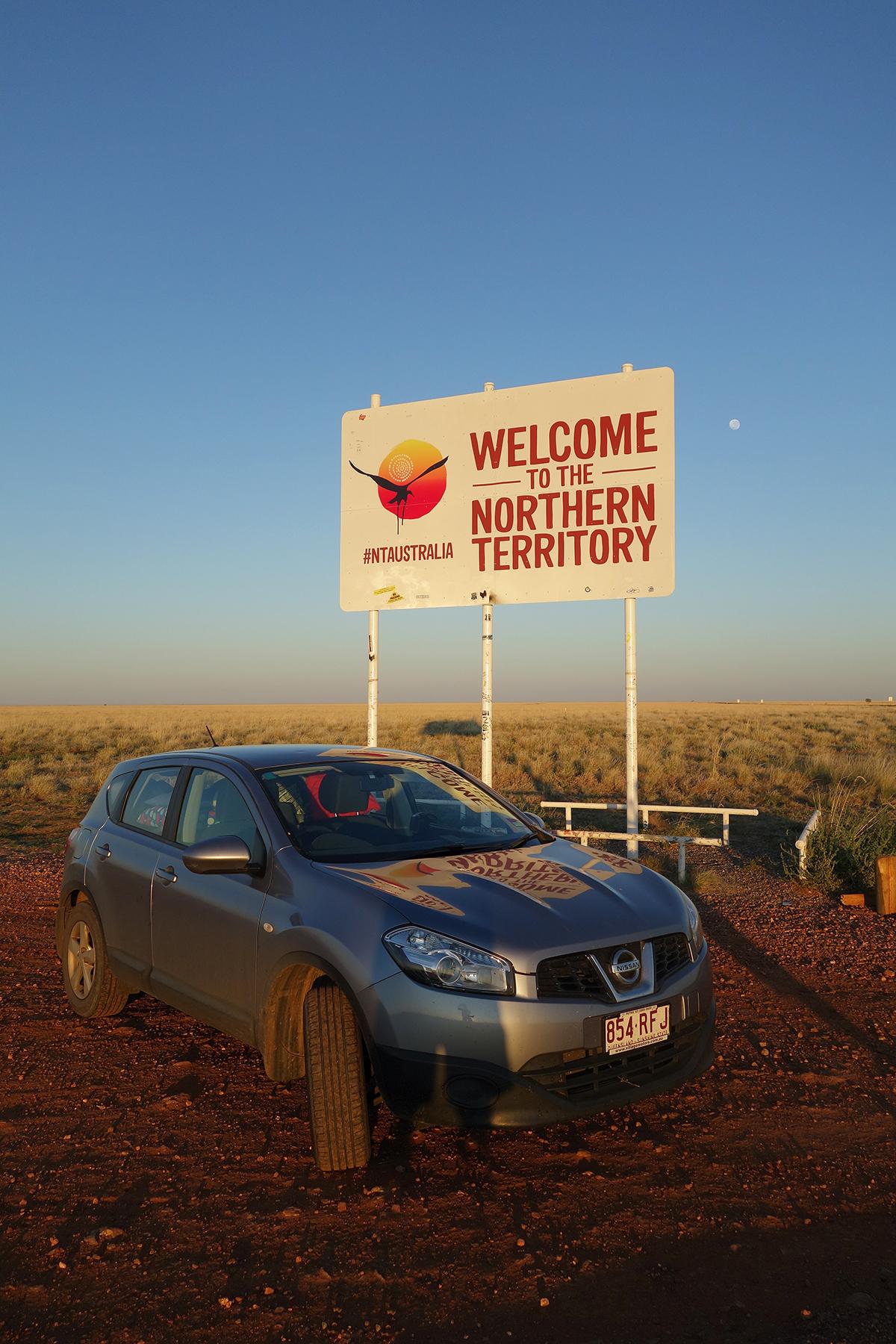 The obligatory border crossing photo