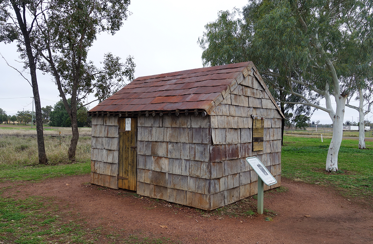 A hut made of kerosene drums - Morven